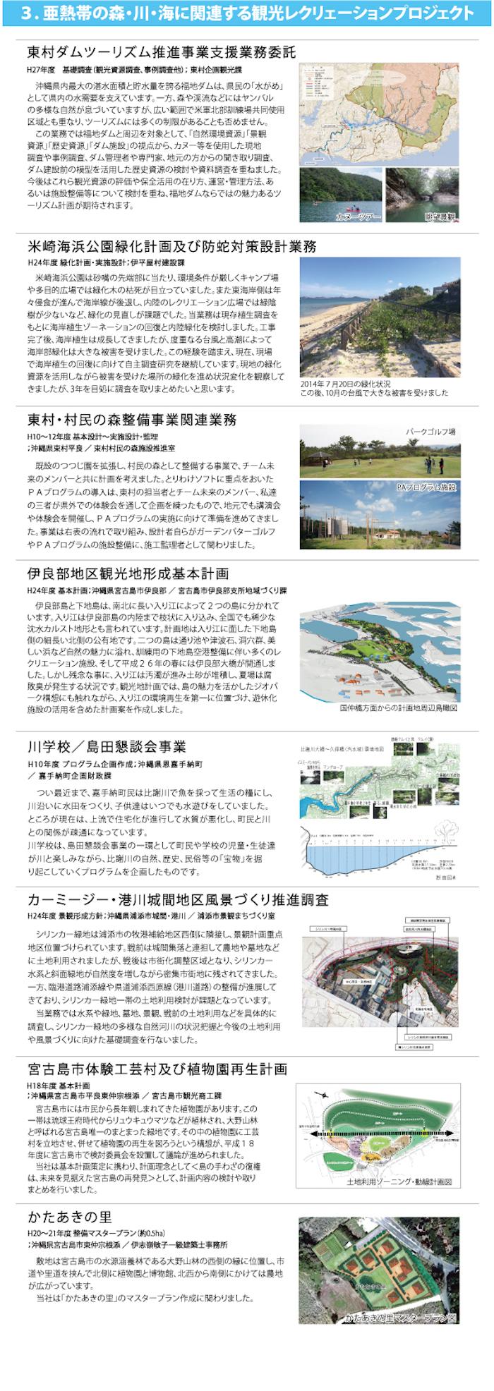 3.亜熱帯の森・川・海に関連する観光レクリェーションプロジェクト