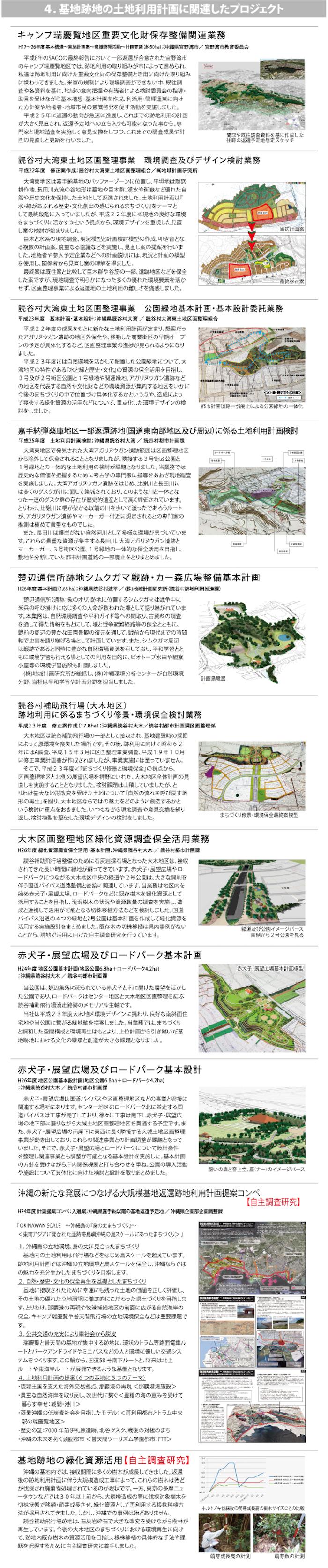 4.基地跡地の土地利用計画に関連したプロジェクト